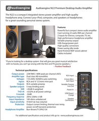 Audioengine N22 Leaflet