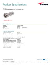 Andrew L4TDF-PS User Manual