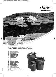 Oase 50455 Pressure pond filter BioPress set 10000 50455 User Manual