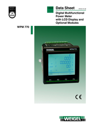 Weigel WPM-770 V6 F1 P1 Mains-analysis device, Mains analyser 6790012 Data Sheet
