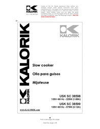 KALORIK Kalorik - Team International Group Slow Cooker 38599 User Manual