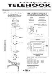 Atdec TELEHOOK Projector Ceiling Mount TH-WH-PJ-CM Leaflet