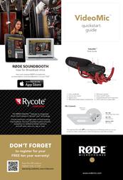 Rode Microphones RODE VIDEO MIC RYCOTE MIKROFON 600.200.012 Leaflet
