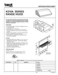 Best K210A User Manual