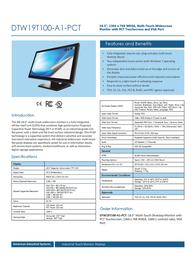 AIS DTW19T100-A1-PCT Leaflet