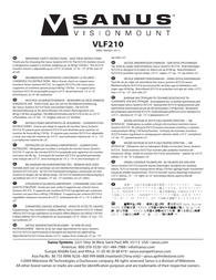 Sanus Systems Vlf210 User Manual