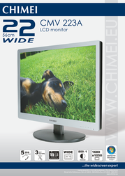 """Chimei 22"""" widescreen LCD monitor CMV 223A Leaflet"""