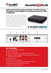 iconBIT MovieHD T2 Plus MP-0204D Leaflet