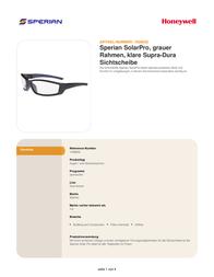Sperian 1028832 Information Guide