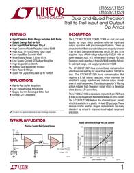 Linear Technology LT1368CS8 Linear IC SO8 R-to-R Op Amp LT1368CS8 Data Sheet