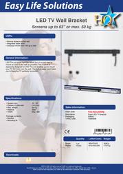 HQ LED screen wall bracket TVS-HQ-LED04B Leaflet