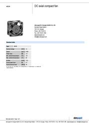 Papst 412 H 13008000007 Data Sheet