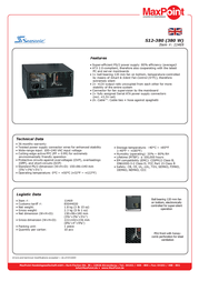 Nanopoint S12-380 (380 W) S12-380 Leaflet