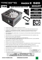 Tacens Radix II Smart 520 1RIIS520 Leaflet