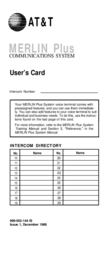 AT&T merlin plus communications system User Manual