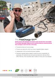 Freeplay Freecharge dynamo charger AK-060-0000-FO FreeCharge AK-060-0000-FO Data Sheet