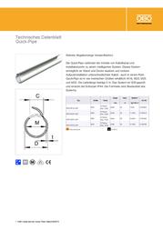 Obo Bettermann Installation pipe Light grey (RAL 7035) 2153939 Data Sheet