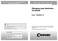 H Tronic 1241219, Lead Acid Battery Charger, 1241219 User Manual