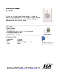 ELK EL-SP12F Leaflet