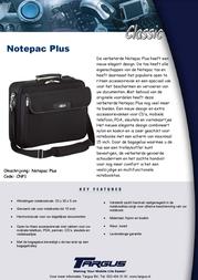 Targus Notepac Plus CNP1 Leaflet