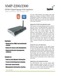 Iadea XMP-2300 Leaflet