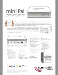 Acomdata mini Pal HD500FPMM-72 Leaflet