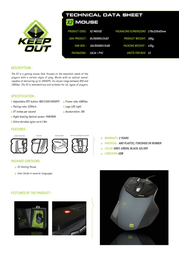 KeepOut X2 X2 MOUSE Product Datasheet