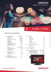 Orion TV26PL177DVD Leaflet
