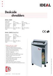 Ideal Desk-side shredder IDEAL 2400-Cross/Cut 24001311 Leaflet