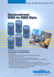 Metrix MX 22 Digital Multimeter and Case 4000 counts MX 0022-L Data Sheet