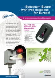 Adapt AD-900 Speedcambuster Bluetooth GPS receiver 8717568397030 Leaflet