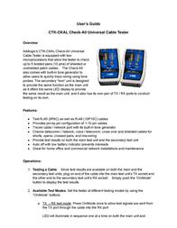 Addlogix CTK-CKAL User Manual