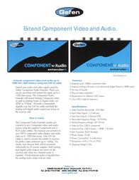 Gefen EXT-COMPAUD-141 Leaflet