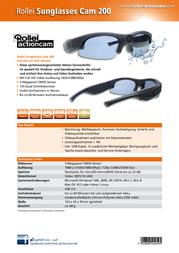 Rollei Actioncam Action Cam 5040295 Cam-200 5040295 Data Sheet
