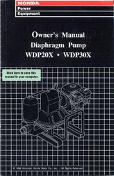 Honda WDP20X User Manual