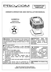 Procom AL500HYLA User Manual