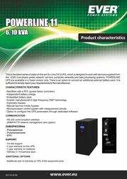 Ever Poweline 11 - 11kVA T/PWRLTO-1110K0/00 User Manual