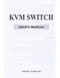 SYBA CL-KVM-281 User Manual