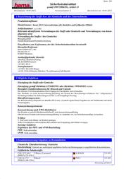 Xavax 00111881 Data Sheet