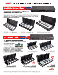 SKB Roto Molded Keyboard Case Leaflet