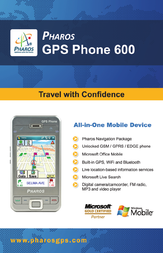 Pharos gps 600 Specification Guide