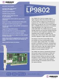 Emulex Single Channel 2Gb/s Fibre Channel PCI-X HBA LP9802-E LP9802-E Leaflet