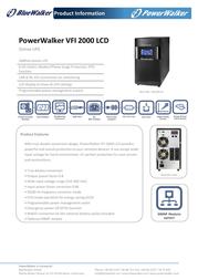 BlueWalker VFI 2000 LCD VFI2000LCD Leaflet