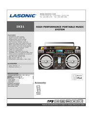 Lasonic i931 Specification Guide