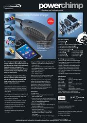 PowerTraveller Powerchimp, Yellow PC003 Leaflet