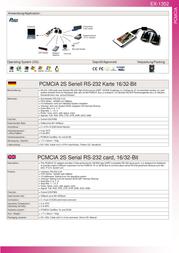 Actebis Exsys EX-1352 PCMCIA 2S Serial RS-232 ports 15.06.2236 Leaflet