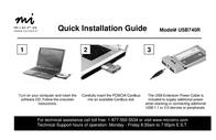 Micro Innovations USB740R 2-Port Hi-Speed USB Cardbus USB740R Leaflet