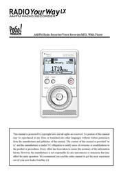 Pogo Radio YourWay LX 128MB User Manual