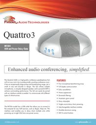 Phoenix Audio Quattro3 MT304 Leaflet