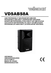 """HQ Power 2-WAY professional 8"""" ABS speaker with amplifier VDSABS8A User Manual"""